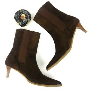 Banana Republic Noe Suede Brown Pointed Toe Boots